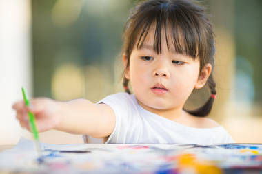 As children develop better control over the muscles in their hands and  fingers, their scribbles begin to change and become more controlled.