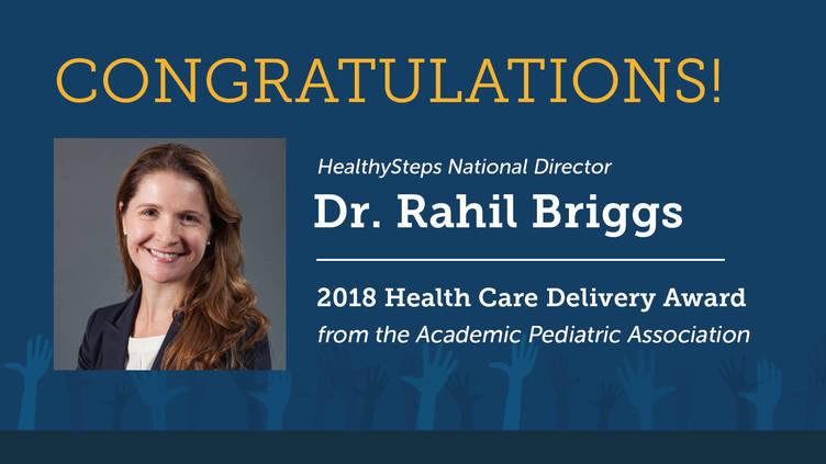 Congratulations to Dr  Rahil Briggs, 2018 APA Health Care Delivery