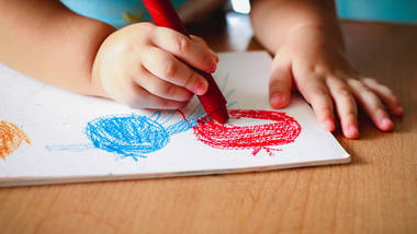 Color Shape Art Projects For Infants