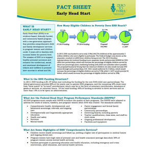 Early head start fact sheet zero to three for Health fact sheet template