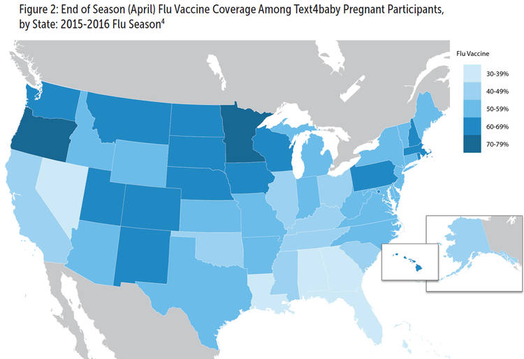 Variation in state-specific flu vaccination coverage for pregnant women was mostly consistent with trends observed in 2009–2010 among Pregnancy Risk Assessment Monitoring System (PRAMS) participating states.